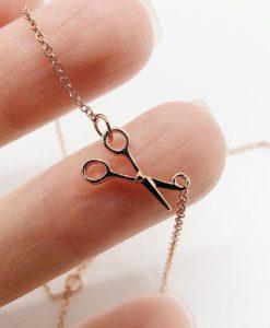 001 29 247x300 - Dainty Scissor Necklace - Delicate Hairstylist Necklace - Hairstylist Gift - Tiny Scissor Pendant - Hairstylist Jewelry - Hairdresser Gift