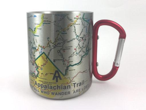 il fullxfull.2430077744 liql 510x383 - Appalachian Trail Map/Smoky Mountains Carabiner Coffee Mug Trail Map, Hiking Trekking Backpacker Gifts