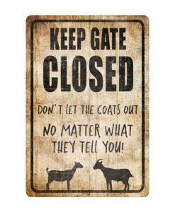 Design 247x300 - Keep Gate Closed Goat Sign Funny Goat Sign Goat Decor Barn Sign Yard Sign Goat Decor Goat Gift Goat Lover