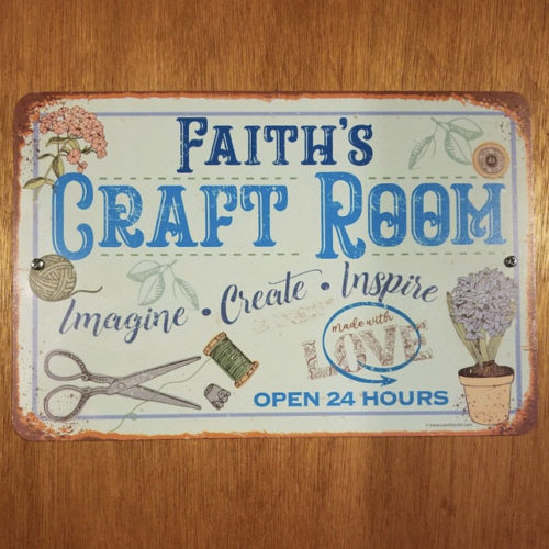 Personalized - Craft Room Metal Sign - Use Indoor/Outdoor - Gift for Artists & Sculptors, Decor for Sewing Room photo review