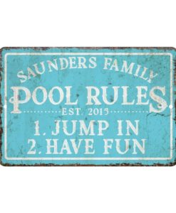 il fullxfull.1853347485 4312 247x300 - Personalized Vintage Distressed Look Pool Rules Metal Room Sign - Rustic sign - Welcome sign - Custom door signs - Metal wall art