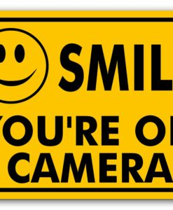 il fullxfull.2223263759 2yjs 247x300 - Metal Sign - Smile You're On Camera Sign - Video Surveillance