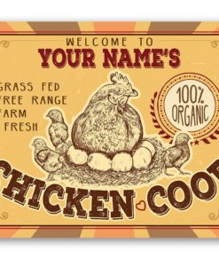 il fullxfull.2274755226 ejc9 247x300 - Personalized Chicken Coop Metal Sign - Indoor/Outdoor -Farm and Home Decor