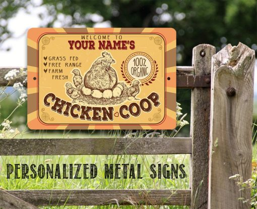 il fullxfull.2274755278 u21b 510x415 - Personalized Chicken Coop Metal Sign - Indoor/Outdoor -Farm and Home Decor