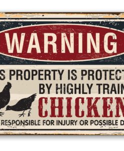 il fullxfull.2276418048 xv40 247x300 - Metal Sign - Property Protected by Chickens - Use Indoor/Outdoor - Great Home and Farmhouse Décor