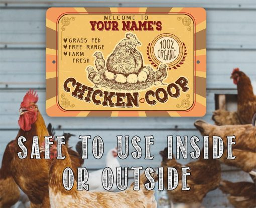 il fullxfull.2322354357 ib0e 510x415 - Personalized Chicken Coop Metal Sign - Indoor/Outdoor -Farm and Home Decor