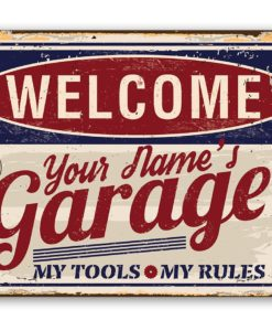 il fullxfull.2324101139 jkem 247x300 - Personalized Garage Metal Sign - Use Indoor/Outdoor - Great Auto Shop Decor