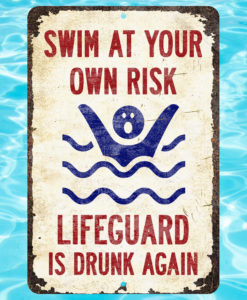 il fullxfull.2438029192 c8ua 247x300 - Swim at Your Own Risk Funny Metal Sign - 10 different amusing text options