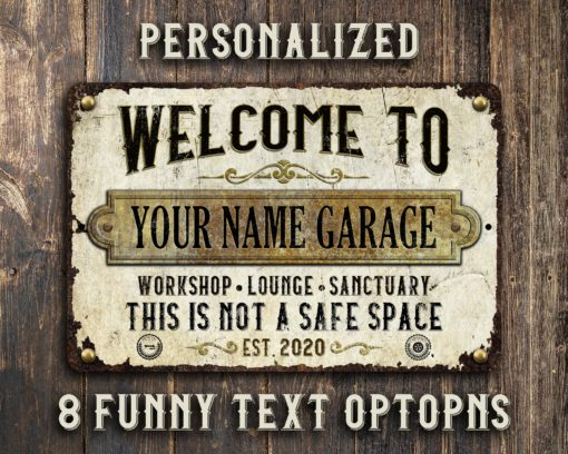 il fullxfull.2517790025 1o6q 510x408 - Custom Rustic White Rusty Metal Garage Sign