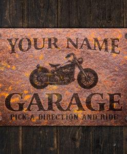 il fullxfull.2575365360 60q3 247x300 - Custom Rusty Design Motorcycle Garage Metal Sign