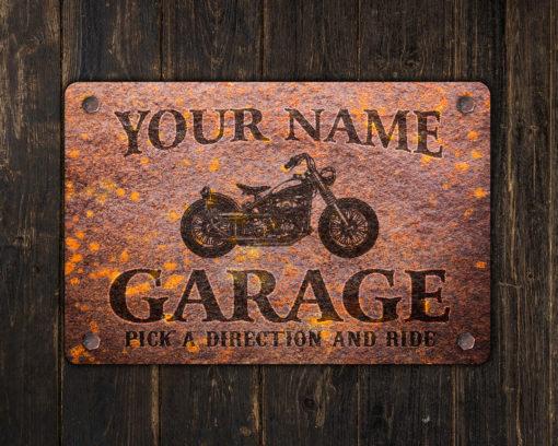 il fullxfull.2575365360 60q3 510x408 - Custom Rusty Design Motorcycle Garage Metal Sign