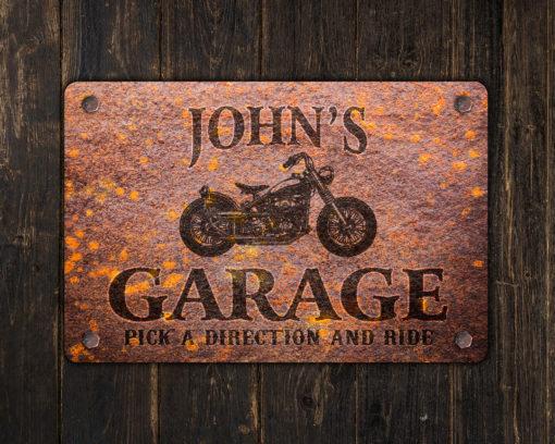 il fullxfull.2623019331 db83 510x408 - Custom Rusty Design Motorcycle Garage Metal Sign
