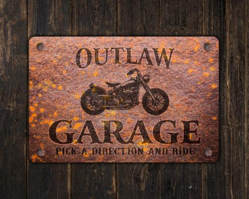 il fullxfull.2623019335 ph5i 510x408 - Custom Rusty Design Motorcycle Garage Metal Sign