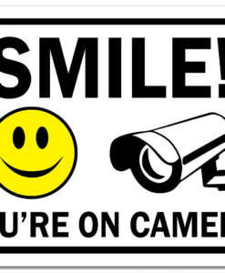 il fullxfull.2699019297 lm26 247x300 - Metal Sign - Smile You're On Camera Sign Yellow Smile Face