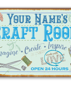 il fullxfull.2708121698 gf7h 247x300 - Personalized - Craft Room Metal Sign - Use Indoor/Outdoor - Gift for Artists & Sculptors, Decor for Sewing Room
