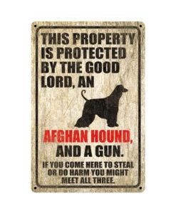 Afghan Hound Warning Dog Sign Distressed Wood 247x300 - Afghan Hound Dog Sign Dog Warning Sign Dog Sign Warning Sign Afghan Hound Gift Sign Gun Sign 2nd Amendment Sign NRA Sign Firearm