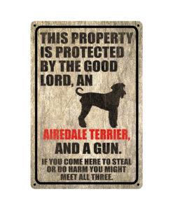 Airedale Terrier Warning Dog Sign Distressed Wood 247x300 - Airedale Terrier Dog Sign Dog Warning Sign Dog Sign Warning Sign Airedale Terrier Gift Sign Gun Sign 2nd Amendment Sign NRA Sign Firearm