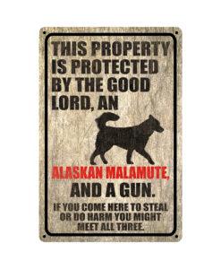 Alaskan Malamute Warning Dog Sign Distressed Wood 247x300 - Alaskan Malamute Dog Sign Dog Warning Sign Dog Sign Warning Sign Alaskan Malamute Gift Sign Gun Sign 2nd Amendment Sign NRA Sign Firearm