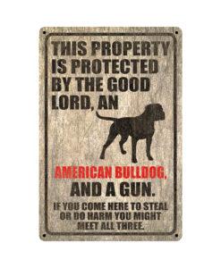 American Bulldog Warning Dog Sign Distressed Wood 247x300 - American Bulldog Dog Sign Dog Warning Sign Dog Sign Warning Sign American Bulldog Gift Sign Gun Sign 2nd Amendment Sign NRA Sign Firearm