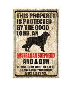Australian Shepherd Warning Dog Sign Wood 247x300 - Australian Shepherd Dog Sign Dog Warning Sign Dog Sign Warning Sign Australian Shepherd Gift Sign Gun Sign 2nd Amendment Sign NRA Sign Firearm