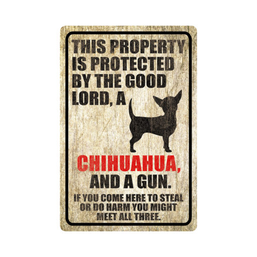 Chihuahua Warning Dog Sign Distressed Wood 510x510 - Chihuahua Dog Sign Dog Warning Sign Dog Sign Warning Sign Chihuahua Gift Sign Gun Sign 2nd Amendment Sign NRA Sign Firearm