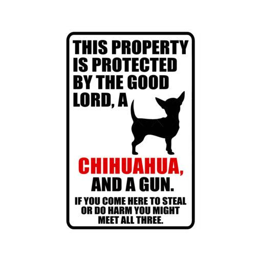 Chihuahua Warning Dog Sign New 510x510 - Chihuahua Dog Sign Dog Warning Sign Dog Sign Warning Sign Chihuahua Gift Sign Gun Sign 2nd Amendment Sign NRA Sign Firearm