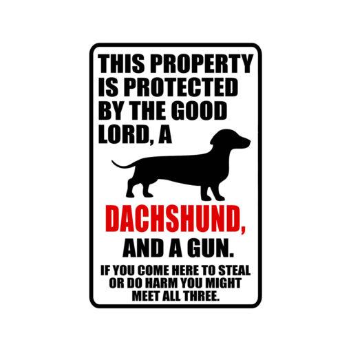 Dachshund Warning Dog Sign New 510x510 - Dachshund Dog Sign Dog Warning Sign Dog Sign Warning Sign Dachshund Gift Sign Gun Sign 2nd Amendment Sign NRA Sign Firearm