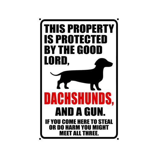 Dachshunds Warning Dog Sign New 510x510 - Dachshund Dog Sign Dog Warning Sign Dog Sign Warning Sign Dachshund Gift Sign Gun Sign 2nd Amendment Sign NRA Sign Firearm