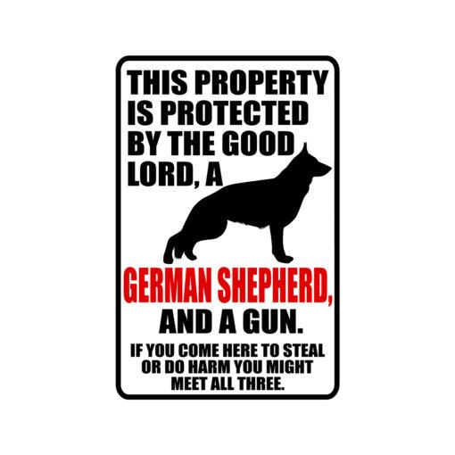 German Shepherd Warning Dog Sign New 510x510 - German Shepherd Dog Sign Dog Warning Sign Dog Sign Warning Sign German Shepherd Gift Sign Gun Sign 2nd Amendment Sign NRA Sign Firearm