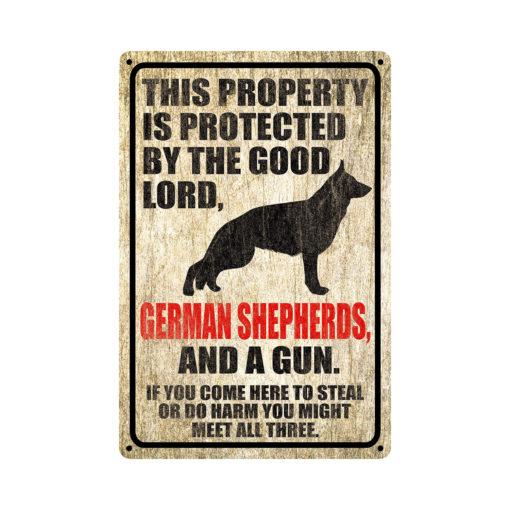 German Shepherds Warning Dog Sign Distressed Wood 510x510 - German Shepherd Dog Sign Dog Warning Sign Dog Sign Warning Sign German Shepherd Gift Sign Gun Sign 2nd Amendment Sign NRA Sign Firearm