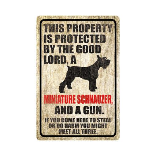 Miniature Schnauzer Warning Dog Sign Distressed Wood 510x510 - Miniature Schnauzer Dog Sign Dog Warning Sign Dog Sign Warning Sign Miniature Schnauzer Gift Sign Gun Sign 2nd Amendment Sign NRA Sign Firearm