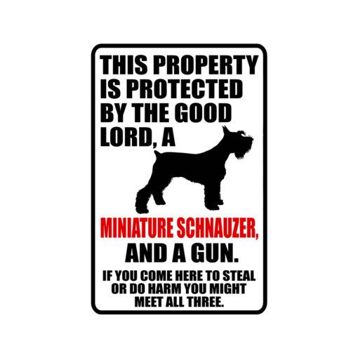 Miniature Schnauzer Warning Dog Sign New 510x510 - Miniature Schnauzer Dog Sign Dog Warning Sign Dog Sign Warning Sign Miniature Schnauzer Gift Sign Gun Sign 2nd Amendment Sign NRA Sign Firearm