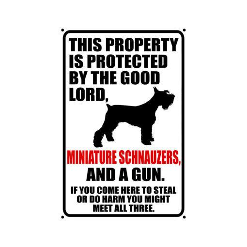 Miniature Schnauzers Warning Dog Sign New 510x510 - Miniature Schnauzer Dog Sign Dog Warning Sign Dog Sign Warning Sign Miniature Schnauzer Gift Sign Gun Sign 2nd Amendment Sign NRA Sign Firearm