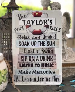 2 5 247x300 - Personalized Pool Rules- Metal Sign - Beach decor - Home Decor - Outdoor Decor - Custom Sign - Pool Decor - Pool Sign