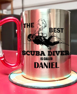 2 1 247x300 - Carabiner Coffee Mug - The best scuba diver is called - Your name mug