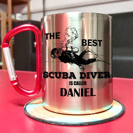 2 1 510x510 - Carabiner Coffee Mug - The best scuba diver is called - Your name mug