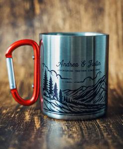 3 247x300 - Personalized 11 oz. Carabiner Campfire Mug - coffee mug, camping, outdoor, camp mug, adventure, Wilde Nomad, mountains, mug, camping mug