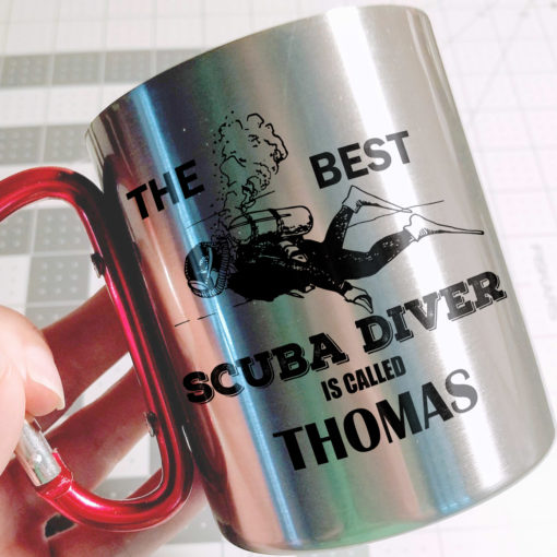 4 2 510x510 - Carabiner Coffee Mug - The best scuba diver is called - Your name mug