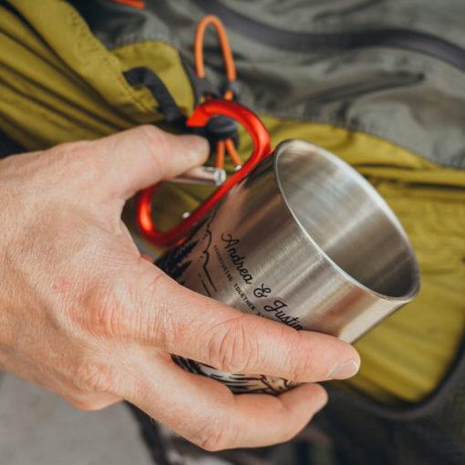4 510x510 - Personalized 11 oz. Carabiner Campfire Mug - coffee mug, camping, outdoor, camp mug, adventure, Wilde Nomad, mountains, mug, camping mug
