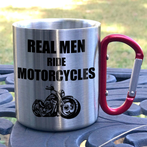 5 1 510x510 - Real Men Ride Motorcycles - Carabiner Coffee Mug