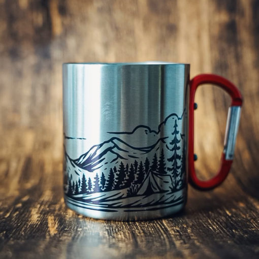 5 510x510 - Personalized 11 oz. Carabiner Campfire Mug - coffee mug, camping, outdoor, camp mug, adventure, Wilde Nomad, mountains, mug, camping mug