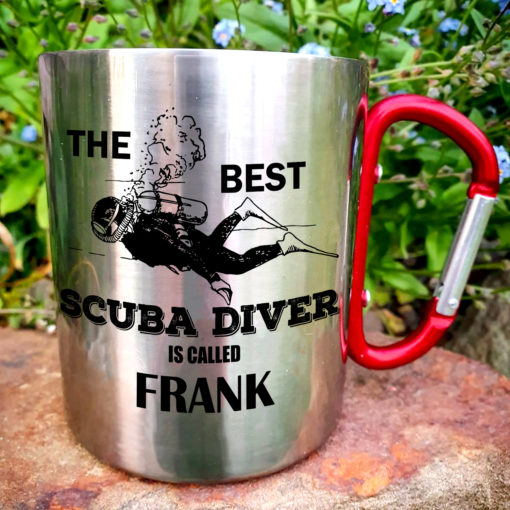 6 510x510 - Carabiner Coffee Mug - The best scuba diver is called - Your name mug