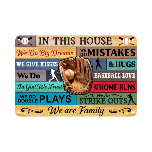 Mockup 4 510x510 - Metal Sign - In This House - Baseball