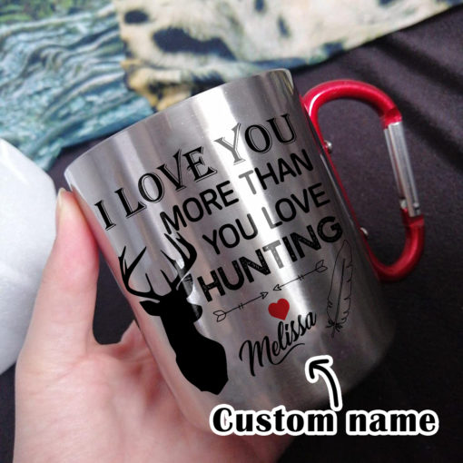 x 1 510x510 - Carabiner Coffee Mug - I Love You More Than You Love Hunting