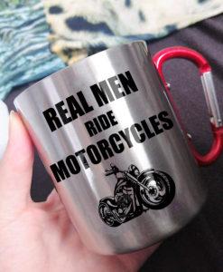 x 247x300 - Real Men Ride Motorcycles - Carabiner Coffee Mug