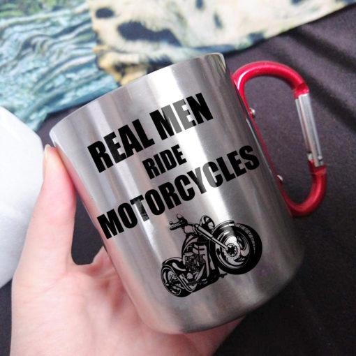 x 510x510 - Real Men Ride Motorcycles - Carabiner Coffee Mug